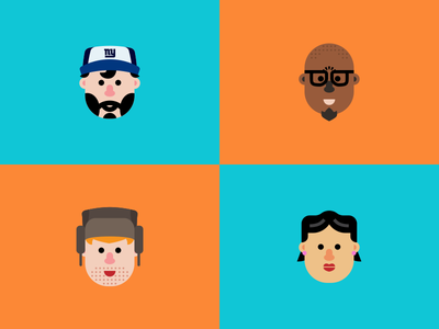 Faces Of The World beard character eyeglasses cap giants ushanka world face head simple shape design
