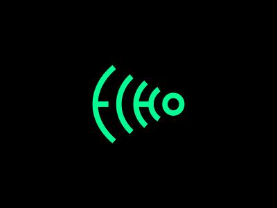 Echo reflection logotype simple signal sound wave audio symbol