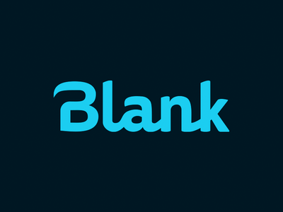 Blank app simple design custom type typography logotype
