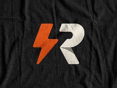 Thunder apparel monogram thunder t shirt r simple design orange typography bolt