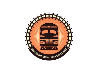 Railfan Association transport train railfan association circular railway logo design