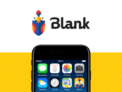 Blank Messenger messenger app yellow typography custom type mascot parrot logo bird animal design