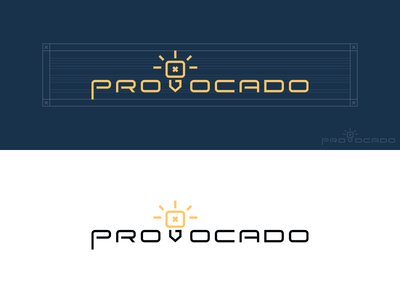 Provocado concept idea light bulb bulb logotype typography custom type logo design