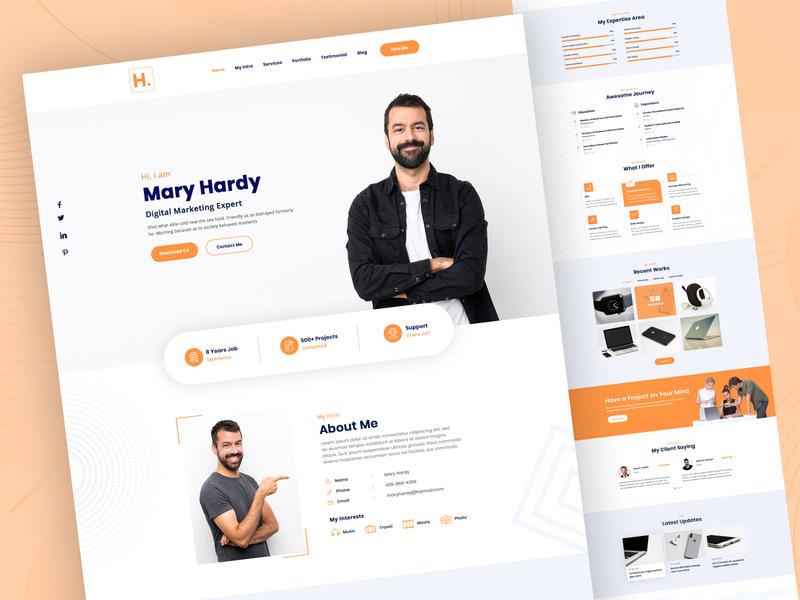 Hardy - Personal Portfolio UI