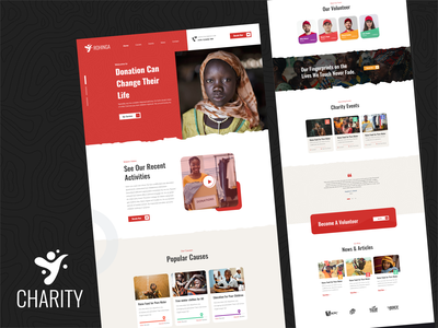 Rohinga | Charity clean minimal landing page design branding uiux ui creative people food donations campaign fundraiser crowdfunding charity