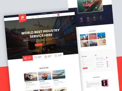 eXpress | Logistics & Transport uxdesign web clean landing page design ui design website design ui express delivery truck shipping company shipment moving company industry delivery courier corporate cargo