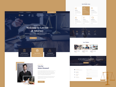 Lawyer & Attorney Landing page trend 2020 uiux design attorneys attorney  law law adviser law firm lawyers minimal landing page design website design ui design ui  ux legal adviser webdesign trend 2021 ui
