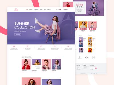 Zaika | Clothing Store  | Fashion House website design clean homepage ui design landing page design minimal style women fashion shopping online shopping summer fashion winter cloth wear