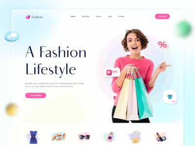 Fashion- Ecommerce |  Clothing Store | Fashion House homepage clean women fashion landing page winter summer wear cloth shopping online shop ui design 2021 trend minimal style shop ecommerce dress fashion website design