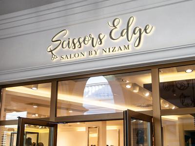 Scissors Edge Logo Design