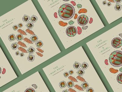 Food Ilustrations Menu Divider Pages