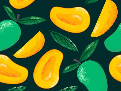 Mango Fruits pattern seamless fabric summer mango fruits