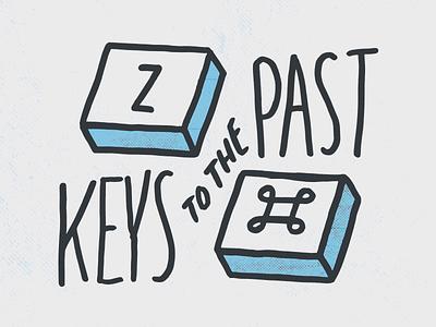 Keys command z graphic design illustration design keys