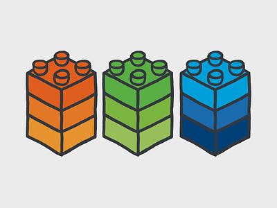 Blocks graphics design digital illustration