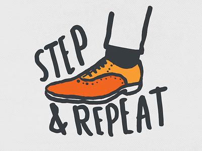 Step & Repeat puns illustration graphics design