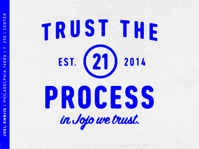 Trust the Process typography basketball sixers joel embiid
