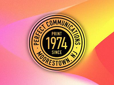 Perfect Badge iconic graphic design experiment gradient icon badge