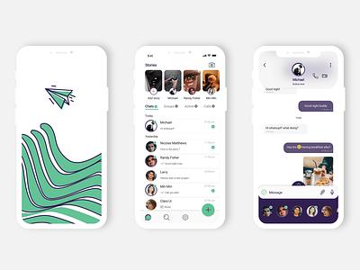 Messaging app concept Whatsapp redesign concept uiinspirations uiux webdesign ux ui uidesigns uidesign uidesigner web minimal app illustration design