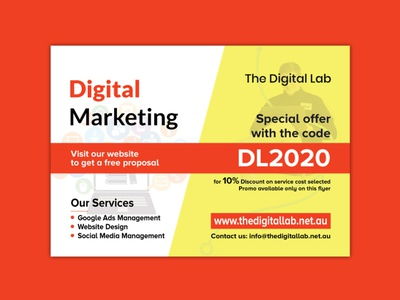 Digital Marketing Agency Flyer facebook ads logodesign branding social media banner web banner banner design digital marketing flyer flyer template flyer design