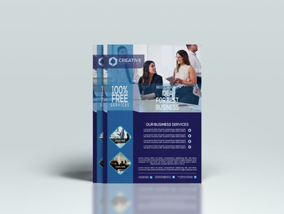 Corporate A4 Business Flyer Design