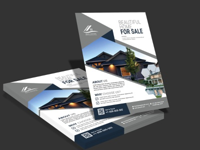Real Estate Flyer corporate adobe photoshop restaurant business card business card logo illustration branding and identity brandidentity creative design adobe illustrator real estate flyer