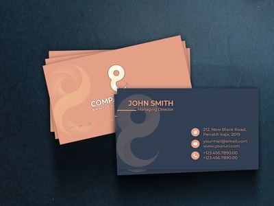 Stylish Business card modern print creative corporate business card business card logo illustration brandidentity branding and identity creative design adobe illustrator