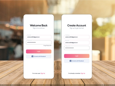 MOBILE APPS LOG IN PAGE DESIGN brandidentity branding and identity creative design adobe illustrator minimal popular simple illustraion branding corporate creative sign in sign up login page desktop app mobile app