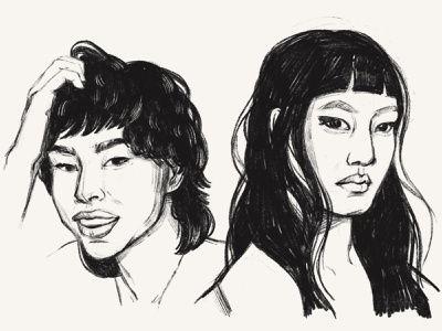Face scketches #1 procreate sketches drawing portraits