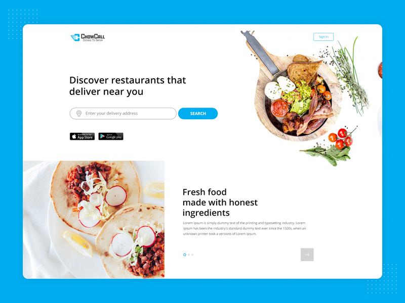 Food Delivery - Web Design ui design web design