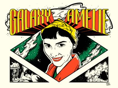 Galaxy Amélie Poulain galaxy space woman