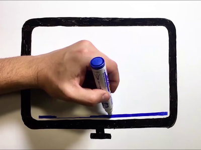 Whiteboard animation scene