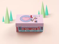 派酒店情人节礼盒包装设计