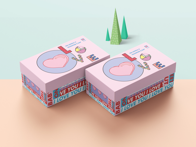 Valentine's Day gift box packaging design for Pai Hotels