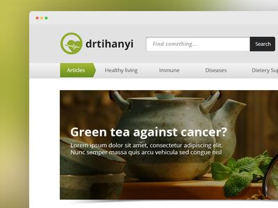Diatery supplement webpage design diatery web page desktop