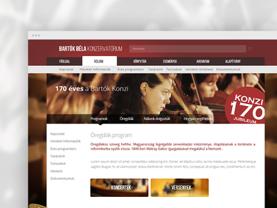 Music conservatory page redesign concept music redesign ui webdesign