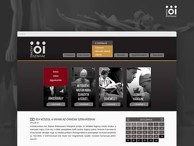 Örkény István Theatre concept UI webdesign ui theatre art