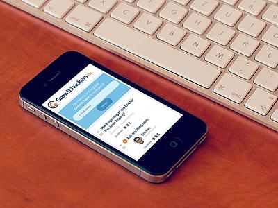 Growthackers responsive layout responsive webdesign ui iphone mockup