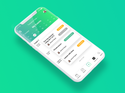 Scheduling mobile app, calendar view mockup user interface ux design agency ui ux management platform ios mobile app calendar saas