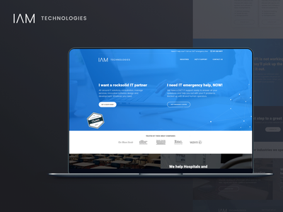 Landing page design for IT services company ui hero shot corporate ux content-first website landing page managed services it services