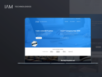 Landing page design for IT services company
