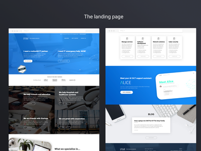 IT managed services landing page sneak peaks hero shot corporate ux content-first website landing page managed services it services