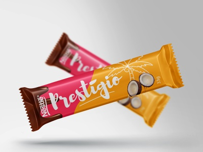 Prestígio (Redesign Suggestion) wrapping wrapper rebranding weekly warm-up redesign food coconut chocolat package design