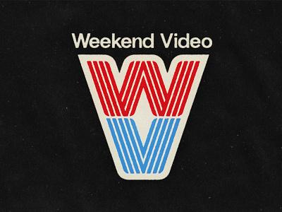 Weekend Video monogram rebrand 90s thicc lines retro logo vhs video