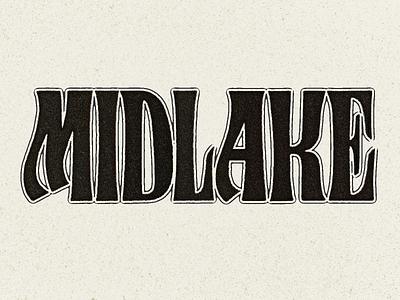 Midlake Logotype lettering letters logotype rock band midlake
