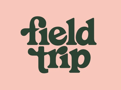 Field Trip Logotype yum yogurt chobani logo letters logotype field trip