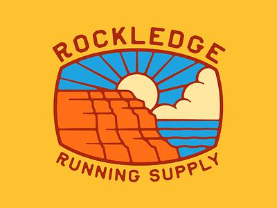Rockledge Logo outdoors rockledge park cloud water sun cliff illustration badge logo badge