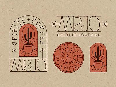 MR.JO Marks badge illustration cactus bar coffee texas logotype logo