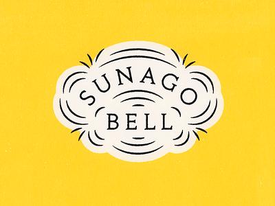 Sunago Bell Logo logo lettering badge logo badge