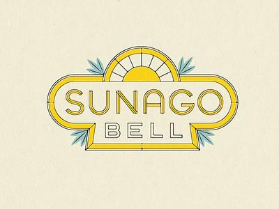Sunago Bell Logo lettering logo badge logo badge