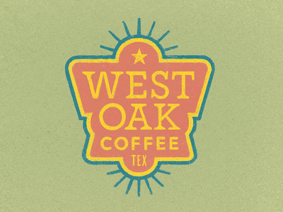 West Oak Coffee Badge
